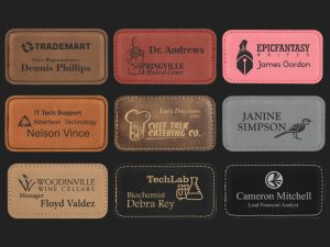 NT-LR1733 Leatherette Name Tag Options